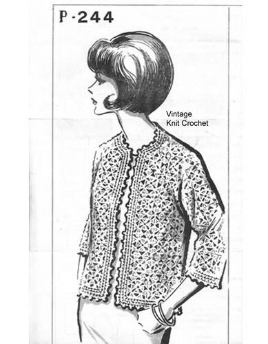 Crochet Chanel Jacket Pattern, Jackie O Styled