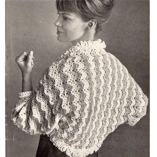 Ripple Crocheted Bed jacket pattern