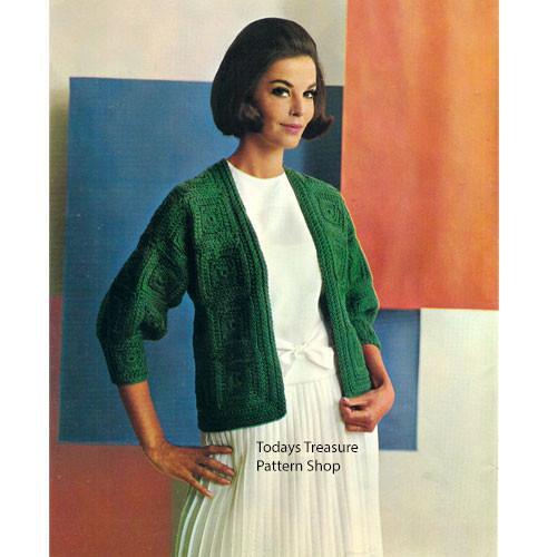 Block Cardigan Crochet Pattern