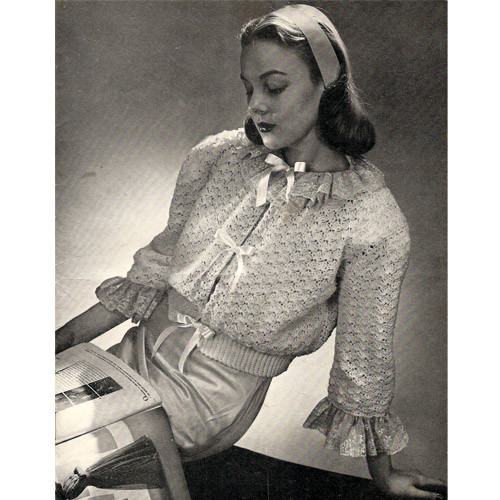 Vintage Crochet Bed Jacket pattern