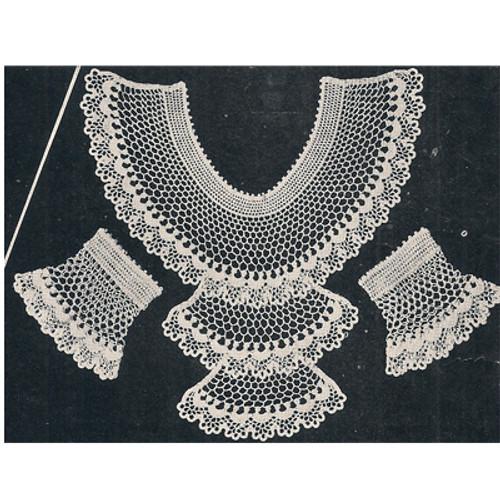 Vintage Crochet Lace Jabot and Cuffs Pattern