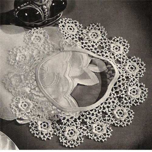 Round Rose Crochet Collar Pattern