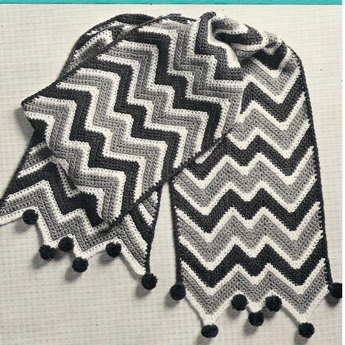 Easy Crochet Ripple Scarf Pattern