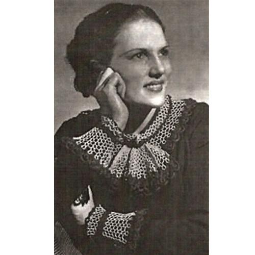 Lace Collar & Cuffs Vintage Crochet Pattern