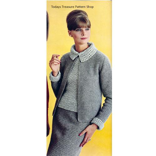 Vintage Columbia Minerva Crochet Suit Pattern