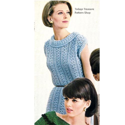Easy Crochet Pattern Sleeveless Dress