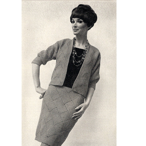 Vintage Crochet American Thread Suit Pattern
