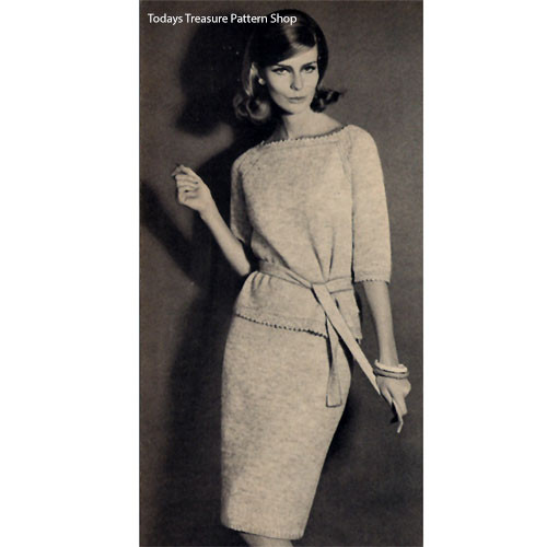 Casual Two Piece Dress Knitting Pattern