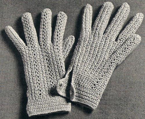 Shortie Gloves Crochet Pattern, Vintage 1960s