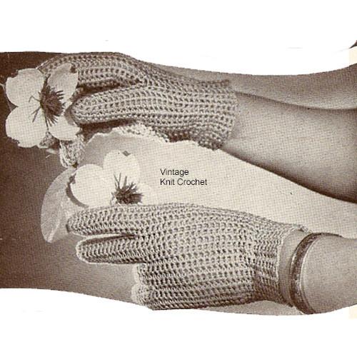 Lightweight Crochet Gloves Pattern