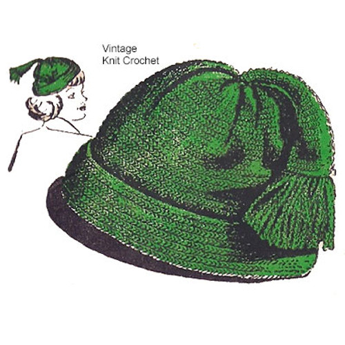 Crochet Tassel Beanie Cap pattern