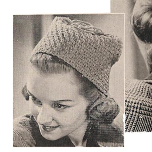 Vintage Crochet Toque Pattern