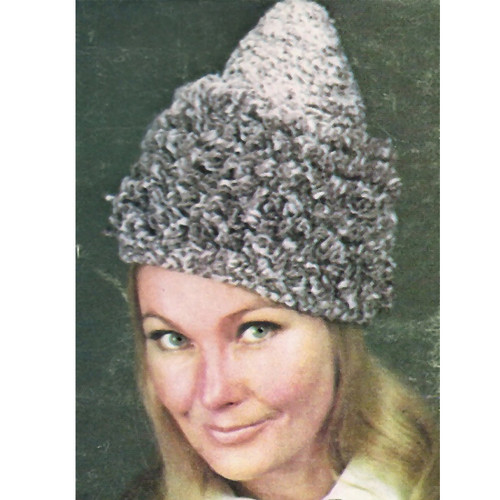 Loop Stitch Conical Hat Crochet Pattern
