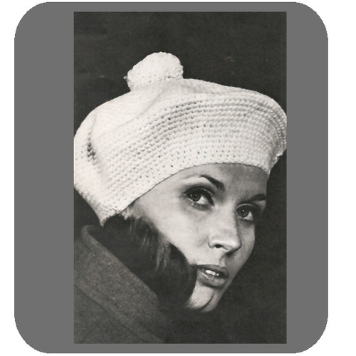 Large Crocheted Beret Pattern from Bernat