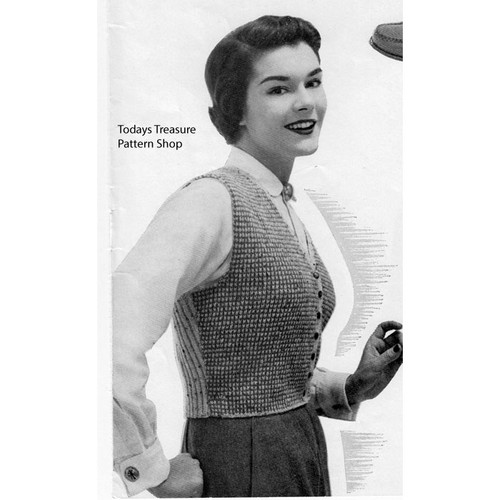 Two Tone Knitted Vest Pattern