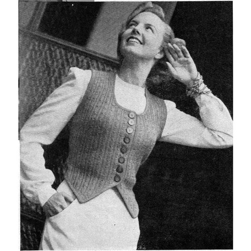 Knitted Square Neck Vest Pattern
