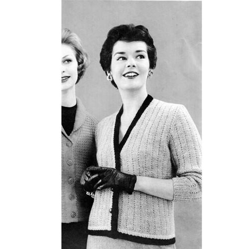 Bernat Mohsire Knitted Cardigan Pattern