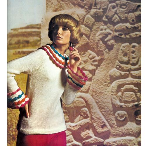Raglan Sleeve Sweater Knitting Pattern, Crochet Trim