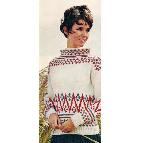 Patterned Sea Breeze Knitted Sweater Pattern in