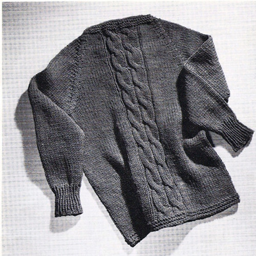 Easy Cable Sweater Knitting Pattern