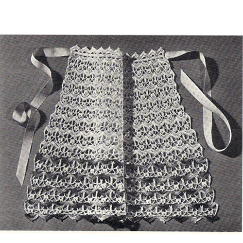 Crochet Lace Shell Apron Pattern