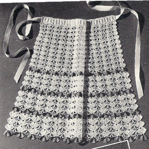 Flower Cockleshells Apron Crochet Pattern