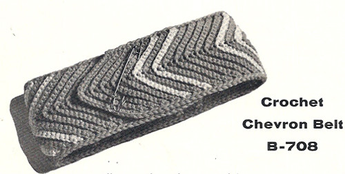 Free Chevron Crochet Belt Pattern