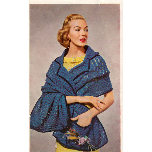 Crocheted Stole Pattern with Collar