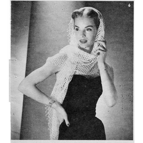 Crochet Stole Scarf Pattern in Knot Stitch