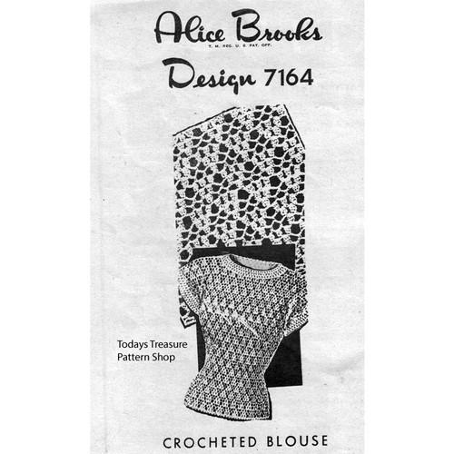 Alice Brooks 7164, Crochet Blouse Pattern