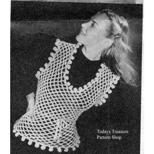 Vintage Crochet Mesh Top Pattern, 1934