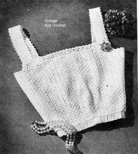Crochet Camisole Top Pattern, Vintage 1950s