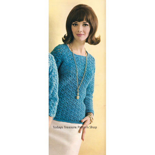 Vintage Crochet Pullover Pattern from Columbia Minerva