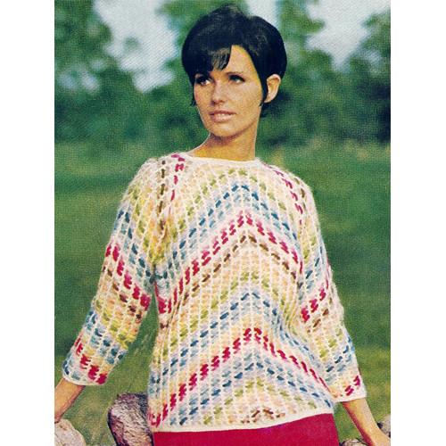 Chevron Stripe Crochet Sweater Pattern