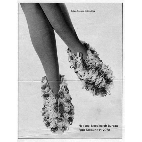 Vintage Crochet Loop Stitch Slippers Pattern