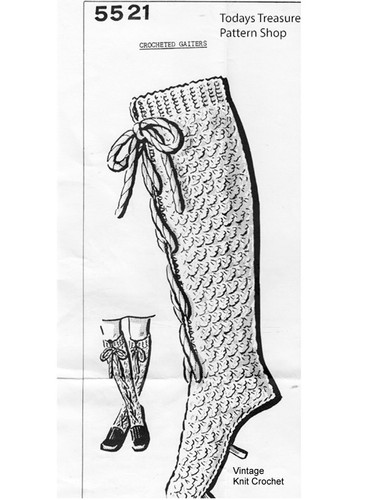 Crochet Lace-up socks pattern, mail order 5521