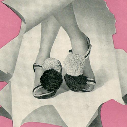 Crochet Pompom Slippers Pattern