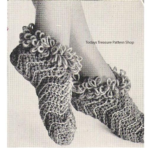 Crochet Bed Socks Pattern in Ripples