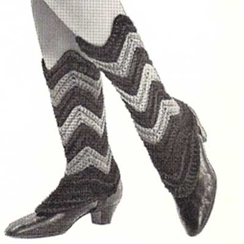 Crochet Pattern Ripple Spats Pattern