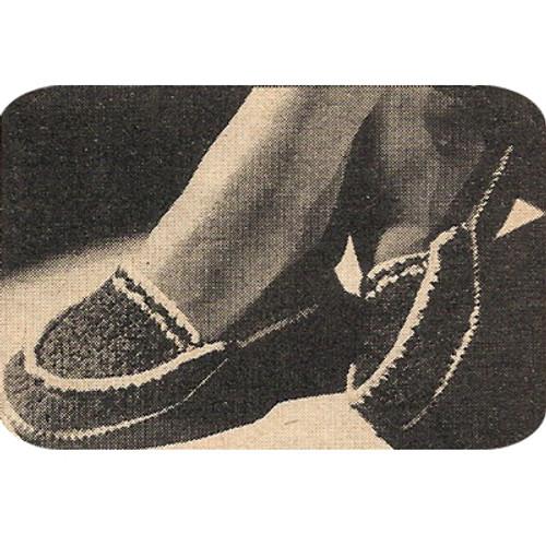 Crochet House Slippers Pattern from Workbasket
