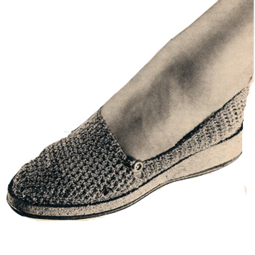 Crochet Wedge Shoes Slippers pattern