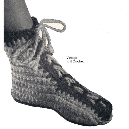 Crochet Boots Pattern, Heavy Rug Yarn