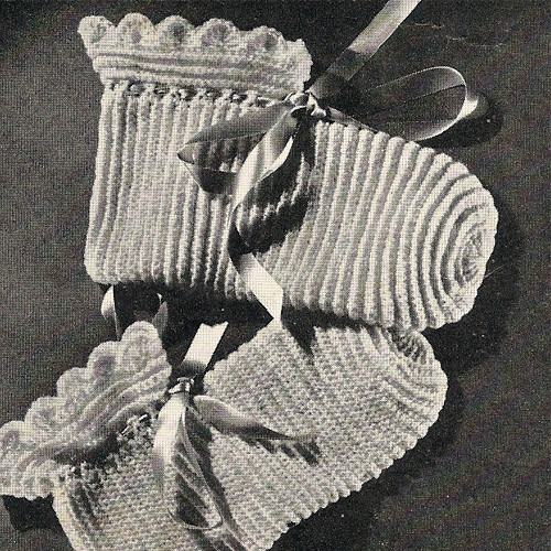 Vintage Bed Socks Crochet Pattern