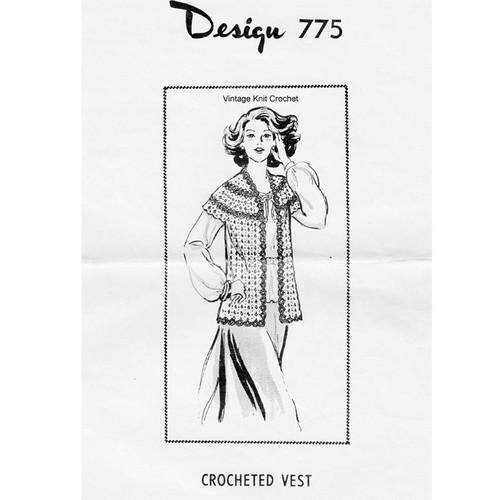 Crochet Shell Stitch Vest Pattern Design 775