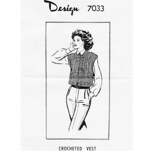 Mail Order Design 7033, Crochet Blouson