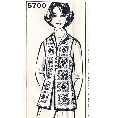 Mail Order Design 5700, Crochet Granny Vest Pattern