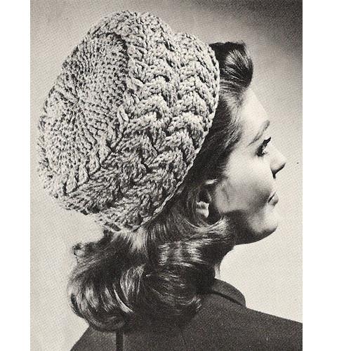 Knitting Pattern Vintage Pillbox Hat