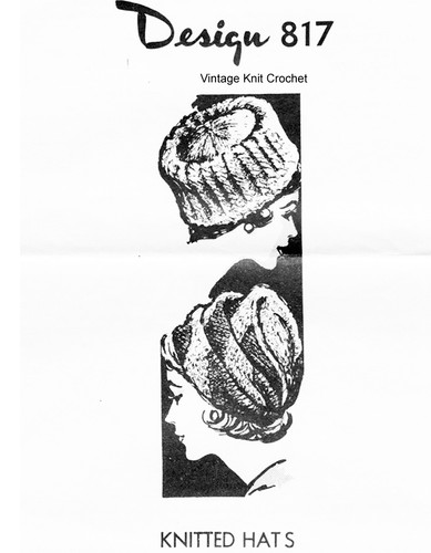 Mail order Knitted Hats Pattern, Turban or Toque, Laura wheeler 817