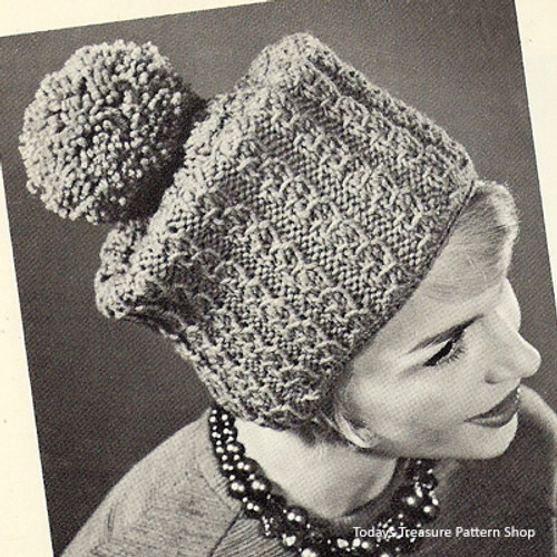 Russian Cossack Knitted Hat Pattern with Pompom