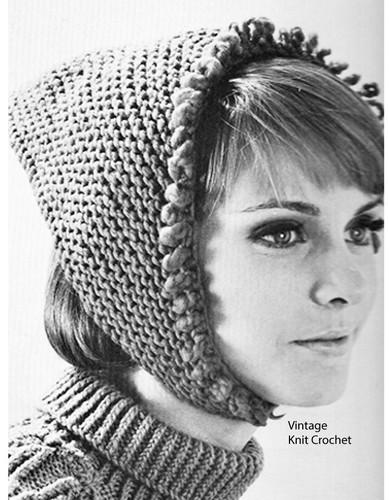 Easy Knitted Kerchief Pattern, Beginners